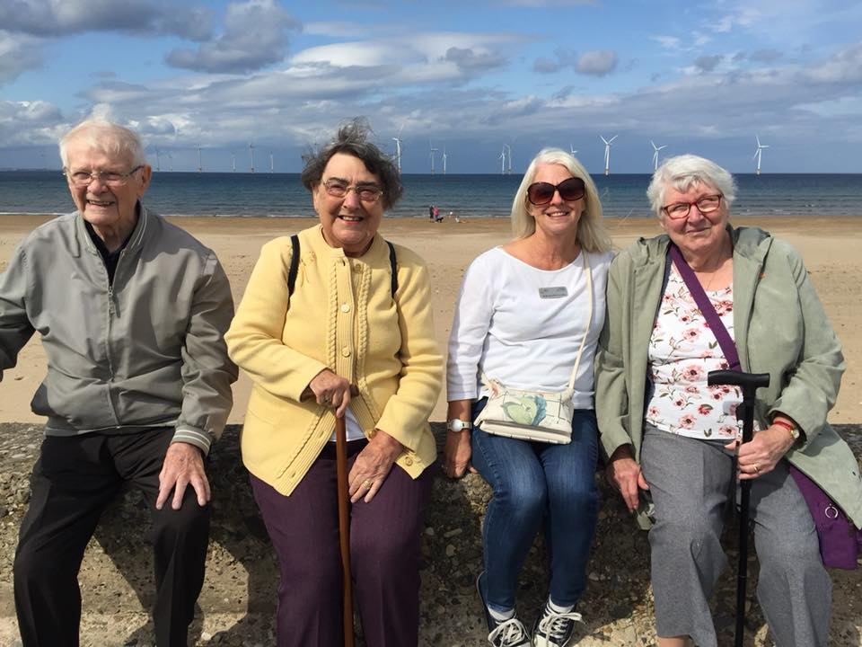 Volunteers take our friends to the seaside
