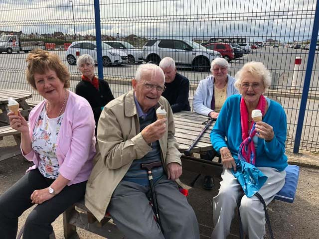 Volunteer drivers take our friends out for a delicious ice cream